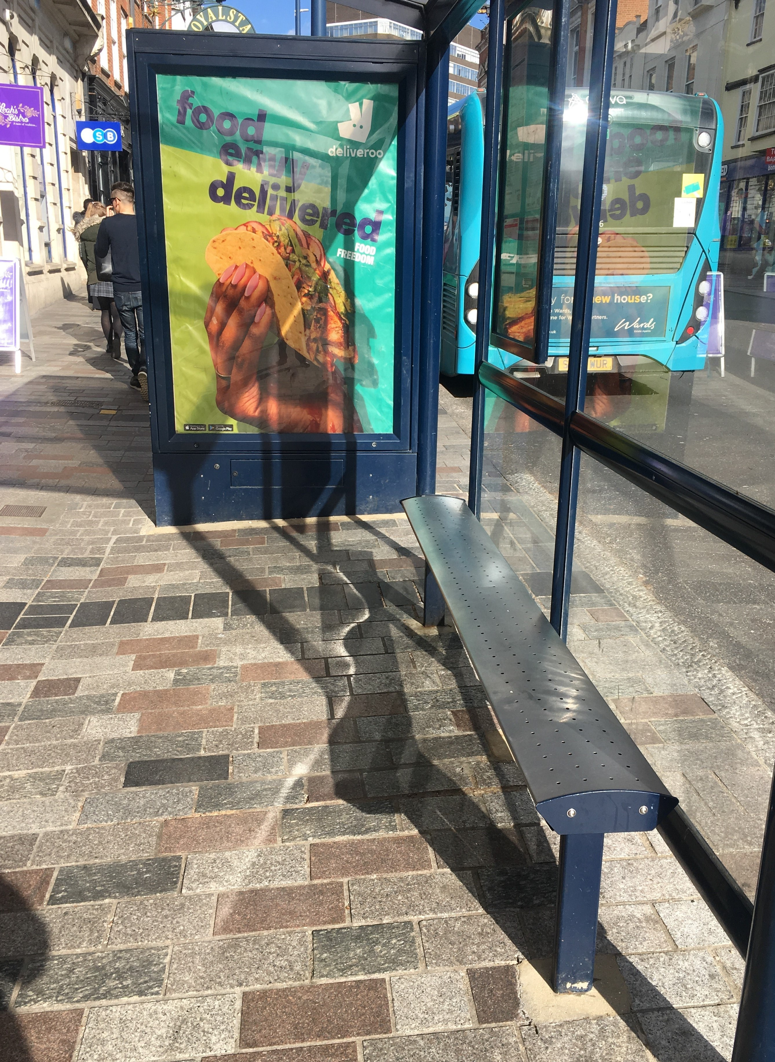 Bus Stop on the High Street after cleaning.jpg